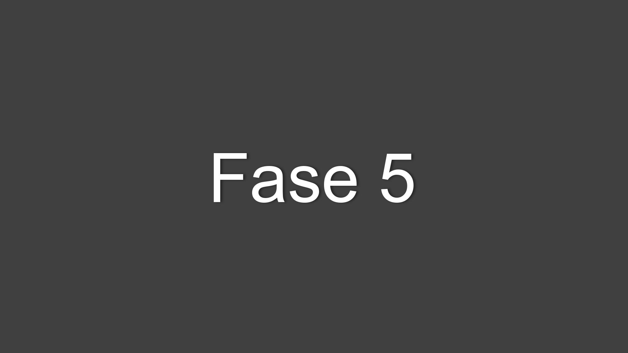 Fase 5