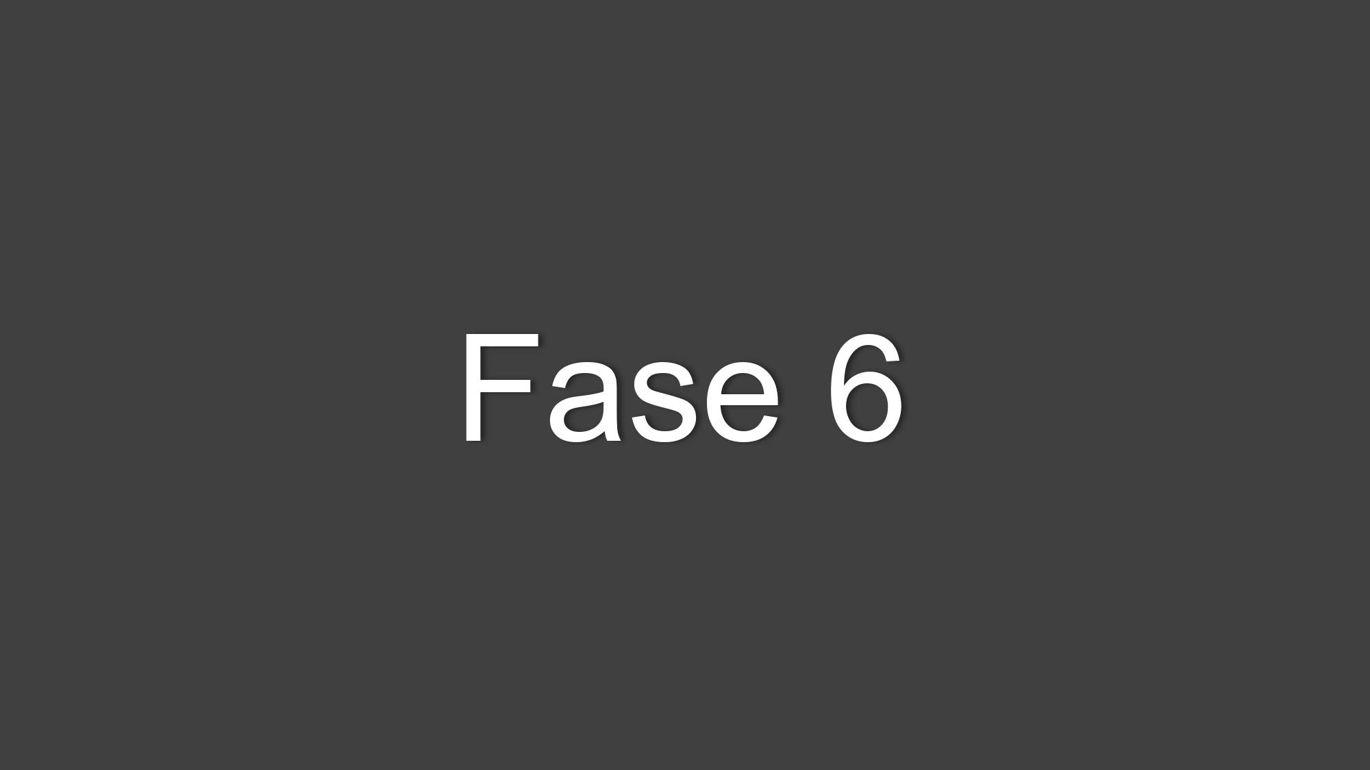 Fase 6